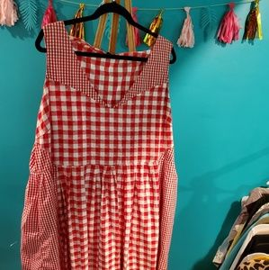 ASOS Size 20 Red White Gingham Picnic Dress